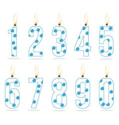 birthday numeral candles boy vector image