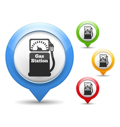 Gas Station Icon vector image vector image