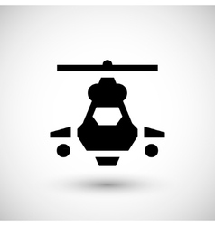 Military helicopter icon vector image