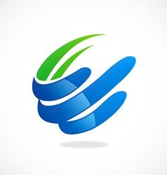 swirl loop finance abstract logo vector image vector image