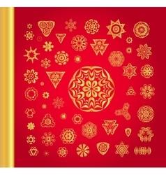 Original Christmas decoration set vector image vector image