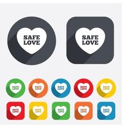 Safe love sign icon Safe sex symbol vector image vector image