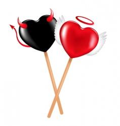angel and demon lollipops vector image vector image