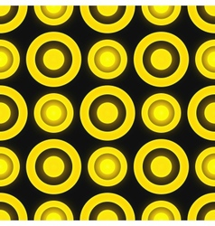 Black and yellow colored retro seamless pattern vector image vector image