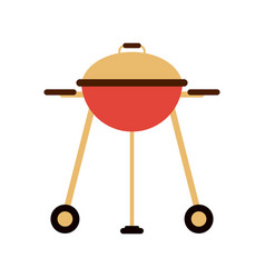 closed bbq grill icon image vector image