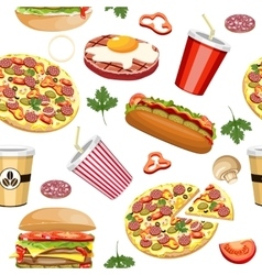fast food seamless vector image vector image