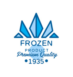 frozen product premium quality since 1935 vector image vector image