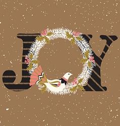 Joy hand lettering vector image vector image