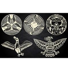 North America and Canada native art vector image