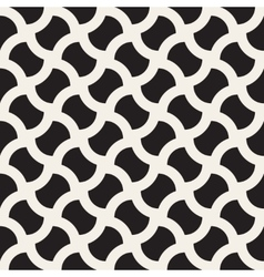 Seamless black and white geometric wavy vector