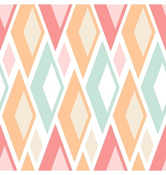 Seamless pastel triangles pattern on white vector image