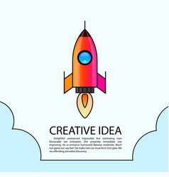 space rocket launch rocket creative startup vector image vector image