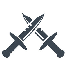 swords flat icon vector image