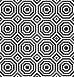 Black and white alternating octagons with squares vector image