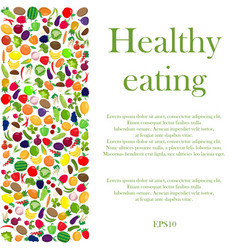 healthy eating background vector image