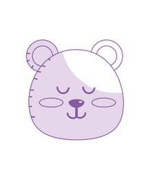 Silhouette teddy bear boy head animal wild vector