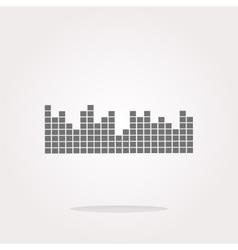 sound round web glossy icon vector image