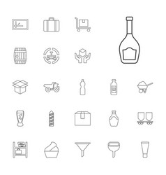 22 container icons vector