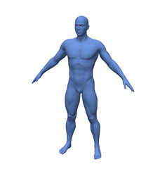 abstract blue standing man isolated on white vector image