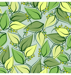 Abstract seamless spring pattern vector image