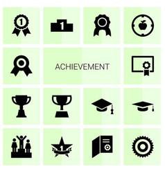 achievement icons vector image