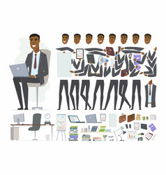 African businessman - cartoon people vector