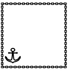 anchor and chain frame 1302 vector image