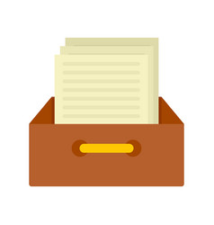 Archive papers icon flat style vector