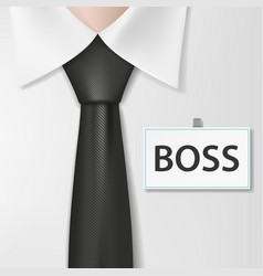 Badge with the inscription boss on a white shirt vector