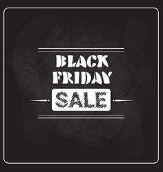 Black friday super sale flyer on blackboard vector