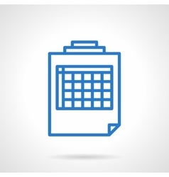 Blank spreadsheet icon simple line style vector