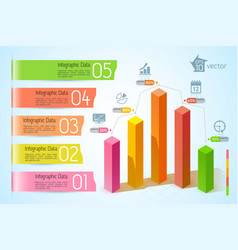 business graphs infographic template vector image