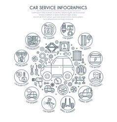 Car service infographics 2 vector