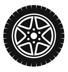 car wheel icon simple style vector image