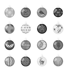 Christmas toys monochrome icons in set collection vector