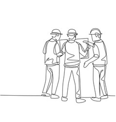 construction discussion planning concept single vector image