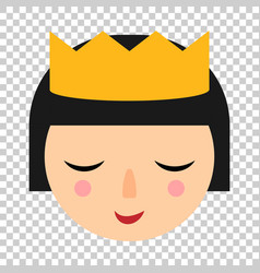 cute girl icon in flat style woman character on vector image
