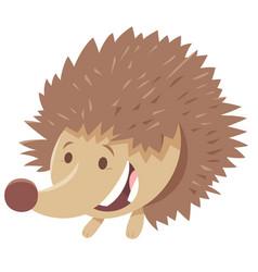 Cute hedgehog cartoon animal character vector