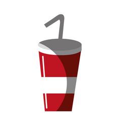 Delicious refreshing soda beverage vector