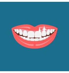Dentist smile icon vector