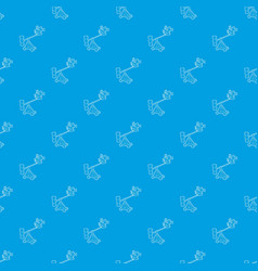 Difficult filming pattern seamless blue vector