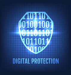 digital protection concept vector image