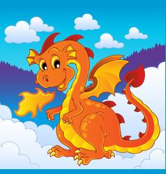 dragon theme image 8 vector image