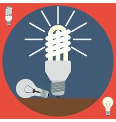 Electric light bulbs vector