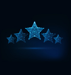 Five stars rating luxury service client vector