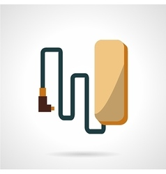 Flat design e-bike battery icon vector image