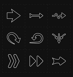 flat modern arrows vector image
