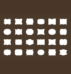 frame label set blank frames decorative shapes vector image