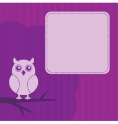 frame with night owl vector image