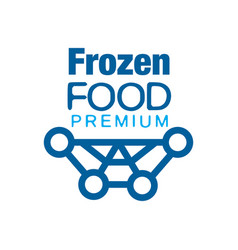 Frozen food premium abstract label for freezing vector